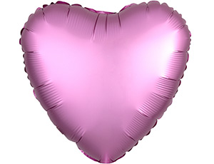 Шар (18″/46 см) Сердце с гелием, Flamingo, Сатин, Anagram