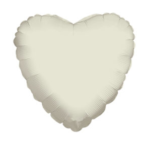 Сердце IVORY 18/45см шар фольга с гелием (к)