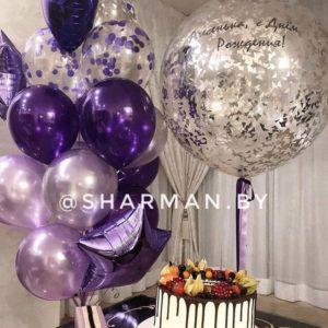 Подарочный набор воздушных шаров «Фиолетовый»