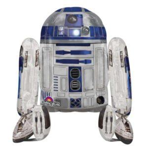 Ходячая фигура, (25″/ 63см) Звездные войны R2D2, наполнена гелием