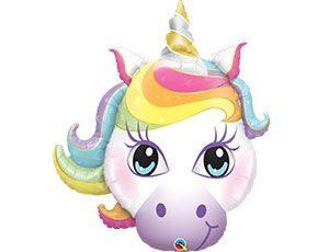 Единорог волшебный голова шар с гелием 38″