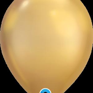 Шар с гелием Chrome™ Gold 11″