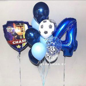 Композиция из воздушных шаров «Юный футболист»