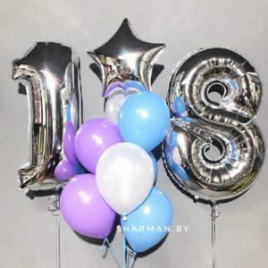 Сет из воздушных шариков «Совершеннолетие»