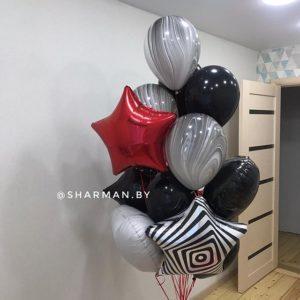 Композиция из воздушных шаров «Супер Агат»
