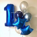 Сет шаров на первый День рождения для мальчика